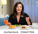 beautiful woman having... | Shutterstock . vector #236647306