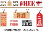 buy one get one free label or... | Shutterstock .eps vector #236652976
