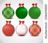 christmas ornament set  red ...   Shutterstock .eps vector #236654005