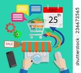 infographics shopping online... | Shutterstock .eps vector #236673565