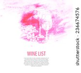 cover for a list of wines ... | Shutterstock .eps vector #236674576