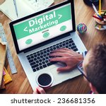 digital marketing online... | Shutterstock . vector #236681356