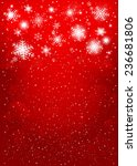 red christmas background.... | Shutterstock .eps vector #236681806