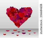 digitally generated heart made... | Shutterstock .eps vector #236684608