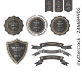 vintage labels set.vector | Shutterstock .eps vector #236684902