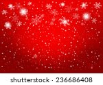 red christmas background.... | Shutterstock .eps vector #236686408