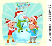illustration of kids building... | Shutterstock .eps vector #236689432
