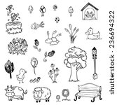 free hand drawing of garden... | Shutterstock .eps vector #236694322