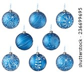 christmas set blue isolated... | Shutterstock .eps vector #236699695