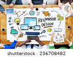 responsive design internet web... | Shutterstock . vector #236708482