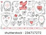 valentine's day wedding love... | Shutterstock .eps vector #236717272