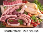 Small photo of raw meat