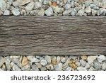 Old Wooden Sleeper On Railway