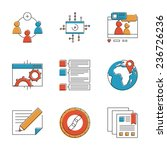abstract icons of social... | Shutterstock .eps vector #236726236