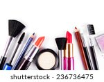 makeup and brushes cosmetic set ... | Shutterstock . vector #236736475