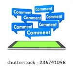 comment and tablet 3d    social ... | Shutterstock . vector #236741098