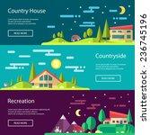 modern flat design conceptual... | Shutterstock .eps vector #236745196