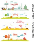 Seamless Vector Seasons Banners ...