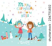 stylish and bright merry... | Shutterstock .eps vector #236751832