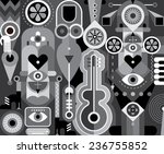 art abstract composition with... | Shutterstock .eps vector #236755852