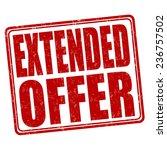 extended offer grunge rubber... | Shutterstock .eps vector #236757502