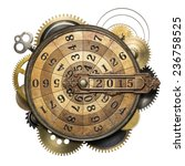 stylized steampunk metal... | Shutterstock . vector #236758525