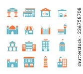 government building icons set... | Shutterstock . vector #236758708