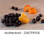 chocolate pralines with orange   Shutterstock . vector #236759518