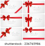 vector set of gift cards with... | Shutterstock .eps vector #236765986