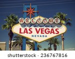 close up of famous sign on las... | Shutterstock . vector #236767816