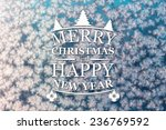 merry christmas and new year... | Shutterstock . vector #236769592