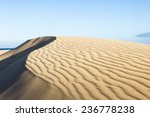 Sand Dune With Sand Ripples On...