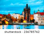the old town with charles... | Shutterstock . vector #236785762
