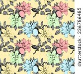 colorful floral seamless... | Shutterstock . vector #236786485