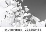 3d rendering destruction of wall   Shutterstock . vector #236800456