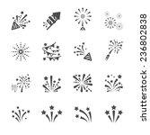 firework icon set 4  vector... | Shutterstock .eps vector #236802838