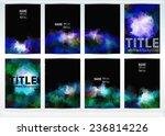 set of templates brochure.... | Shutterstock .eps vector #236814226