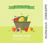 banner with fresh fruits and... | Shutterstock .eps vector #236816095