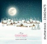winter village night background.... | Shutterstock .eps vector #236824675