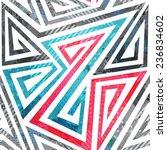 geometric spiral seamless... | Shutterstock .eps vector #236834602