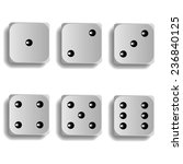 vector dice for games turned on ...   Shutterstock .eps vector #236840125