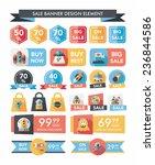 space sale banner flat design...