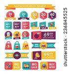 space sale banner flat design... | Shutterstock .eps vector #236845525