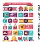 space sale banner flat design...   Shutterstock .eps vector #236846065