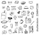 kitchen equipment symbol sketch ... | Shutterstock .eps vector #236847238