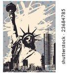 grunge liberty poster | Shutterstock .eps vector #23684785