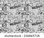 seamless doodle communication...   Shutterstock .eps vector #236865718