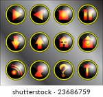 we menu on black and yellow... | Shutterstock . vector #23686759