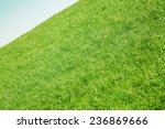 inclined slope with green grass ... | Shutterstock . vector #236869666