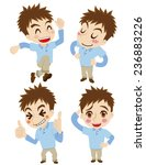 set of the active young man | Shutterstock .eps vector #236883226